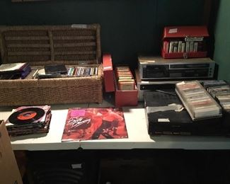 Tapes, 45's, and more