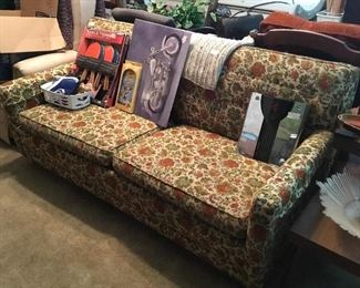 Sofa and collectible items