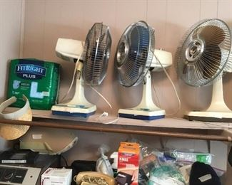 Fans, miscellaneous medical items
