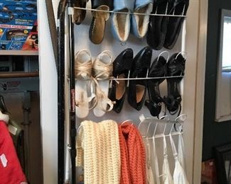 Shoes, scarves, slips