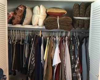 Pillows and men's clothing