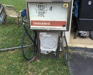 Gas pump at Garage