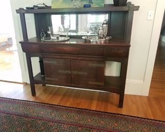Mission Oak Sideboard with Mirrored back. Great condition