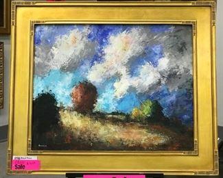 David Swanigan, oil on canvas board, 24 x 30 (framed 32 x 38)