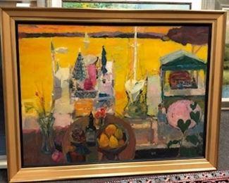 "Wm. Nelson, ""Lake Geneva, WI"", contemporary, 39 x51 in. framed"