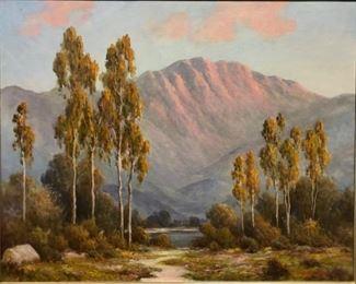 "Engelhardt, ""Landscape of Dessert Mountains, Palm Springs, CA,"" circa 1925,  33 x 40 in. framed"