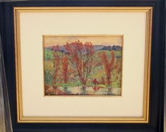 "M-66: ""Ann Arbor Hills"". Oil on Canvas. Signed lower right. Image size 10 x 8"". Frame size 24.5 x 22.5"".  $1,250.00."
