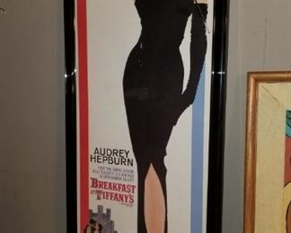 Vintage Audrey Hepburn  Breakfast at Tiffany's Poster framed