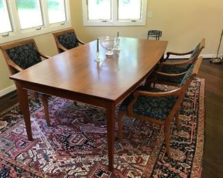 "Gorgeous dining room table by renown woodworker Jeff Koopus Measures 48 1/2"" W , 85"" L"