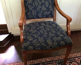 Set of four dining room arm chairs