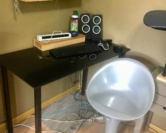 IKEA Table Desk and egg chair