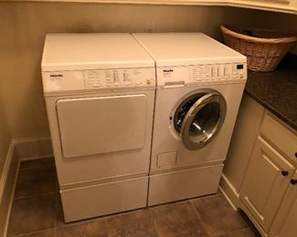 One of two sets of Miele washer & dryers available