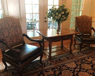 Thomasville upholstered fabric & Leather chairs