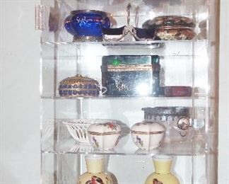 Fabulous smalls inc. Herend, Crystal Caskets, Malachite Dresser Jars, Nippon, Cricket Box & Misc. Oriental