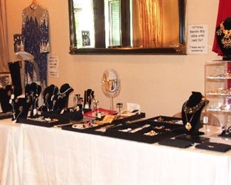 Entire Table of Designer Jewelry most from Estate of Ann Miller (many items have COA's)