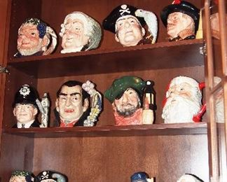 Collection R. Doulton Toby Mugs