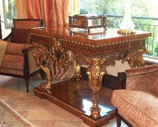 Great $21,000 Retail Price Gilt and Inlaid Foyer Table....our price will be fair as usual :)