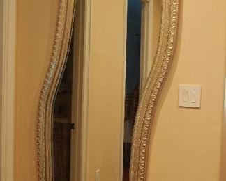 Silvered Modern Mirror