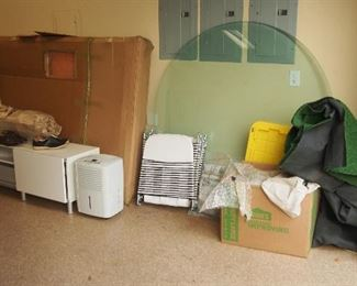 Lots of Misc. Glass, Ikea Furniture, FULL SIZE Pool Table still in Box from move, Exercise Equipment too