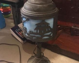 Vintage Leaded Glass Lamp, working condition