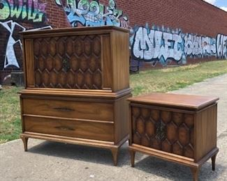 Mid Century chest and matching nightstand