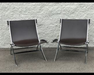Pair of chrome chairs