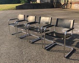 Chrome tubular chairs