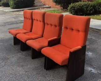 Lane Brutalist dining chairs