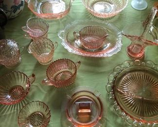 Antique Depression Glass, just a few of the many pieces in this Estate