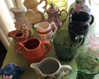 Loads of Collectible Pitchers and More!