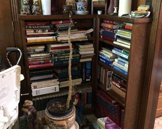 Mid-Century Bookcases full of, (you guessed it!) BOOKS!!! and More!