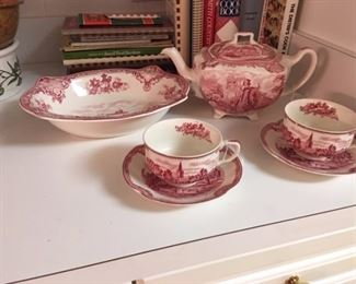 Old Britain Castles china pieces.   Ironstone, Stangl, Maison Blanche and other sets of china available.