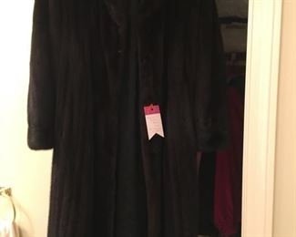 Scaasi full length mink coat (with appraisal).  Purchased from Lowenthals