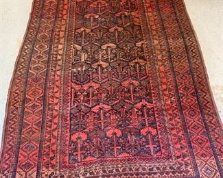 "1. Antique Baluse Rug From Pakistan (5'10"" x 13')"