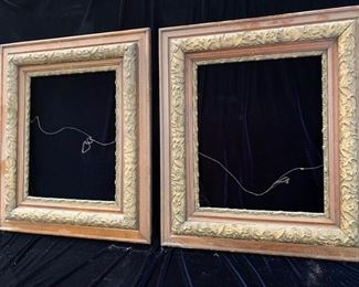 "11. Pair of Carved Frames (26"" x 31"") (no glass)"