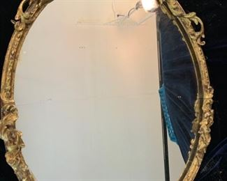"13. Mirror w/ Gilt Carved Frame (29"" x 22"")"