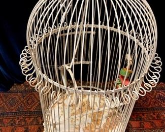 "35. Painted Bird Cage (22"" x 34"")"
