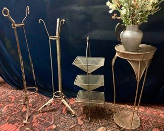 Collection of vintage plant stands
