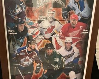 45. NHL Superstars Framed Poster