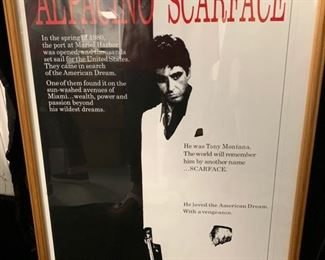 52. Scarface Movie Poster Framed