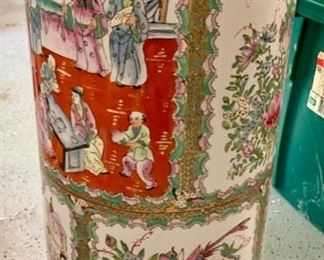 "57. Asian Porcelain Umbrella Stand (11"" x 25"")"