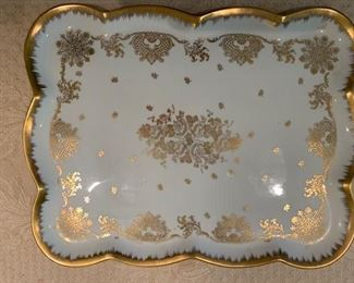 28. Handpainted Limoge Tray (17'' x 13.5'')