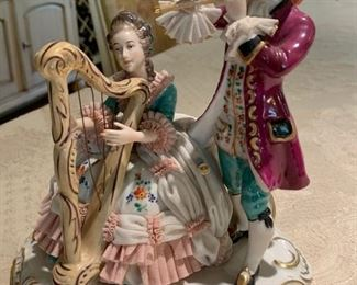 42. Dresden Porcelain Musical Figurines