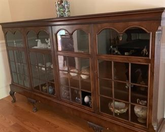 55. 4 Glass Antique Display Cabinet (92'' x 13'' x 51'')