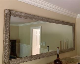57. Antique Mirror w/ Carved Frame (88'' x 34'')