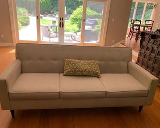 63. Pair of Off White Tufted Back Better by Design 3 Cushion Sofa (81'' x 37'' x 33'')