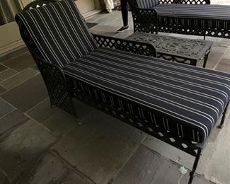 91. Pair of Wrought Iron Chaise Lounge (24'' x 56'' x 39'')