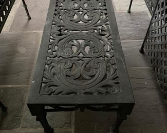92. Wrought Iron Coffee Table (36'' x 17'' x 15'')