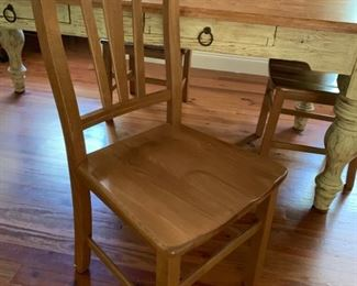 127. 4 Maple Side Chairs (18'' x 18'' x 38'')