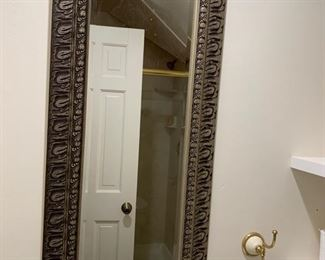 137. Beveled Carved Mirror (18'' x 39'')